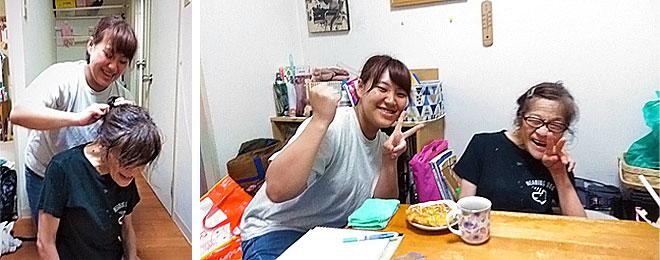 最後の研修に田中さんと久保さんとで記念写真